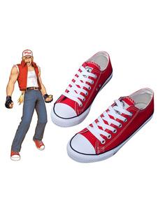 Carnaval Juego de Cosplay Accesorios King Of Fighter KOF Fatal Fury Terry Bogard Canvas Sports Shoes Halloween
