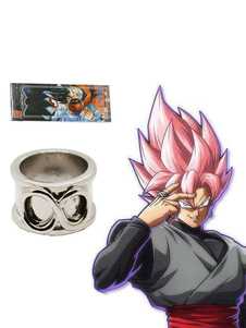 Carnaval Dragon Ball Cosplay Accesorios Super Zamasu Son Goku Black Time Ring Halloween