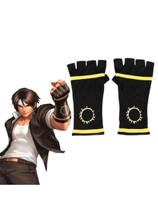 Carnaval The King Of Fighters Cosplay KOF Kyo Kusanagi Gloves Black Fighting Gloves Juego Cosplay Accesorios Halloween