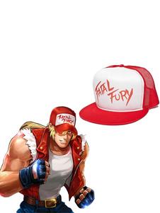 Carnaval Juego Accesorios de cosplay King Of Fighters KOF Fatal Fury Terry Bogard Gorro de lona rojo Sombrero Halloween