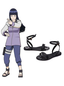 Carnevale Scarpe di Cosplay 2020 Naruto Anime Prop Shippuden Hyuuga Hinata Sandali estivi Scarpe Cosplay Halloween
