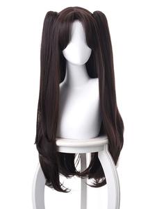FGO косплей парик судьба великий орден иштар тосака рин черный вьющиеся две стороны косплей парики Хэллоуин