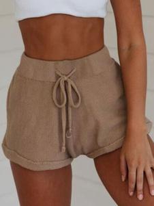Шорты Paperbag Женские повседневные шорты на шнуровке