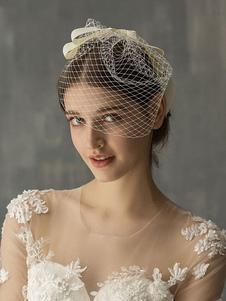 Acessórios para cabelo de casamento Mesh Bow Birdcage Veil