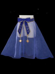 Blue Lolita Cover Ups Сладкий галактический принт Sheer Lolita Outwears