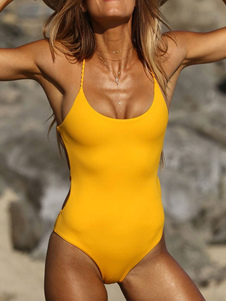 Monokini Maiôs 2020 Para As Mulheres Tecidos Halter Cruz de Volta Sem Encosto Verão Praia Swimwear