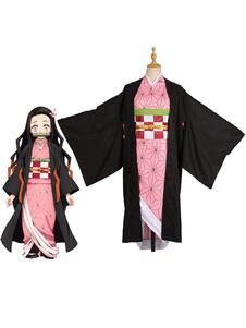 Убийца демонов Кимэцу Но Яиба Косплей Камадо Незуко Розовый Японский Аниме Косплей Костюм Хэллоуин