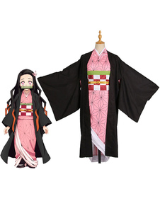 Costume Carnevale Costume Cosplay 2020 Rosa Anime Giapponesi Demon Slayer Kimetsu No Yaiba Kamado Nezuko  Costume Carnevale