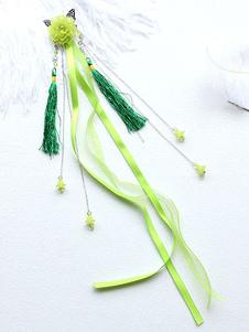 Stile cinese Lolita Copricapo Fiori Nappa Nappa Han Lolita Accessori per capelli
