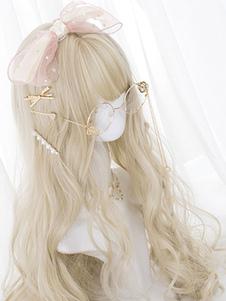 Parrucca dolce Lolita Parrucche lunghe ricci di lolita con Blunt Bang