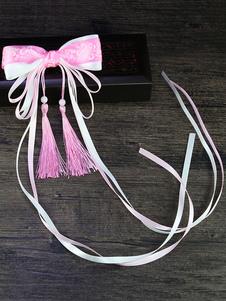 Stile cinese Lolita Copricapo Nappe Bows Nastri Han Lolita Accessori per capelli