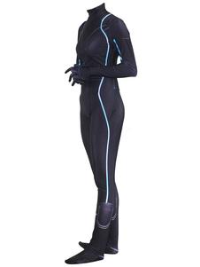 Vingadores pretos do traje do super-herói 4 macacão do Dia das Bruxas da viúva negra Halloween