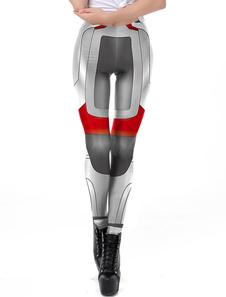 Disfraz Carnaval Mujer Disfraz Leggings Avengers 4 Endgame Quantum Armor Grey Superhero Medias Halloween Carnaval