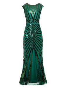 Vestidos años 20 verde  de poliéster Charleston disfraz Disfraces Retro para baile fibra de poliéster estilo femenino DISFRACES Disfraces & Cosplay