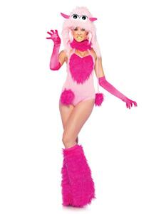 Женские костюмы животных Пурпурный маленький монстр 4 шт. Праздничные костюмы Хэллоуин