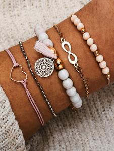 Boho pulsera elegante metal abalorios colgante pulsera cadenas joyas para mujer