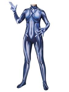 Costume Carnevale Blue Superhero Costume The Flash Lycra Spandex Women Tuta da donna  Costume Carnevale