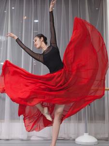 عيد الرعبقاعة رقص الأزياء الشيفون مطوي الباليه اللباس
