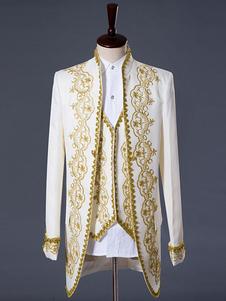 Мужской винтажный костюм в стиле аристократа Блейзер с жилетом и брюками 3 шт. Костюмы Хэллоуин