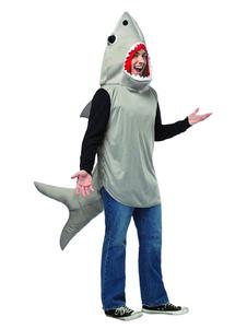 Мужские костюмы животных Светло-серая акула Праздничные костюмы для Хэллоуина