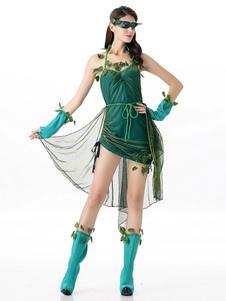 عيد الرعبالنساء هالوين CostumesGenie ورقة نمط الساق دفئا البلوز 5 قطعة أزياء الإجازات