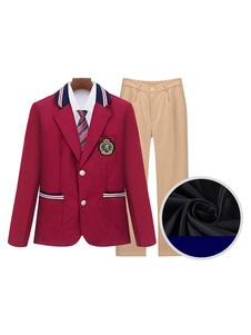 Школьная форма Красные полоски с логотипами 5 шт. Аниме Товары Хэллоуин