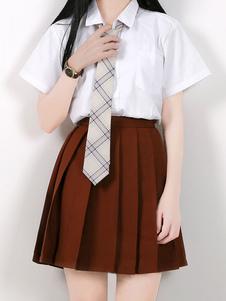 Carnaval Traje de uniforme escolar Camisa académica Ladrillo rojo Falda plisada Mercancía de anime Halloween