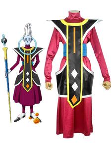 Disfraz Carnaval Traje De Cosplay De Dragonball Whis Red Anime Japonés Conjunto De Cosplay Halloween Carnaval