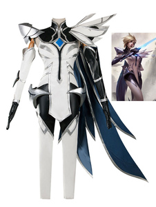 Carnevale League Of Legends Fiora Laurent Il Grand Duelist White IG Champion Set LOL Halloween Gioco Costumi Cosplay