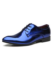 Scarpe eleganti blu Scarpe stringate da uomo