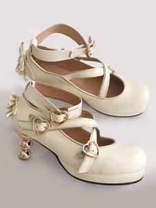 Lolita Clássica Bombas Arcos Calcanhar Gourd Lolita Sapatos