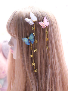 Stile cinese Lolita Headwear Catene Butterfly Han Lolita Hai Accessori