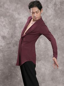 Vestidos de dança latina Ember Red Men Modal Top Dancing Wear