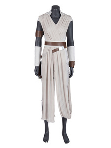Star Wars Cosplay A Ascensão Do Filme Skywalker Rey Cosplay Outfit Chiffon Trajes Cosplay