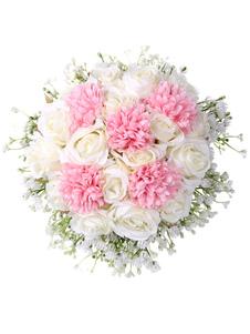 Flores para casamento Fabuloso Com Fio Forma Poly Algodão Misturar Bouquets De Noiva