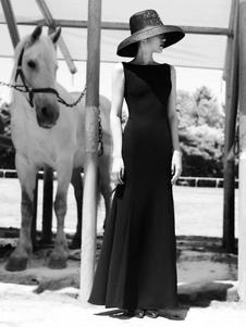 Disfraz Carnaval Desayuno en el disfraz de Tiffany Vestido negro de Audrey Hepburn Carnaval