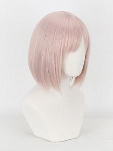 Carnaval Peluca cosplay rosa claro Fate Grand Order Juego recto Matthew Kyrielight Cosplay peluca