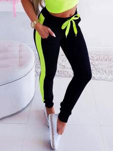 Leggings de ginásio de mulheres leggings de cintura alta leggings de treino de lado