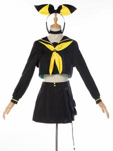 Disfraz Carnaval Vocaloid Cosplay Kagamine Rin Black Cosplay Set Carnaval
