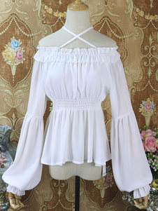 Holiday Lolita Cover Ups White Lace Chiffon Lolita Outwears