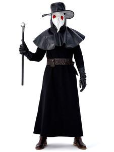 Костюмы доктора чумы Съемный воротник Праздничные костюмы Хэллоуина