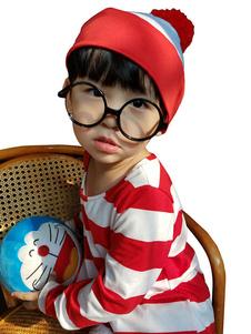 Хеллоуин костюмы дети кино косплей красные верхние очки хлопок дети косплей костюмы