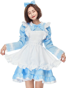 Costume Carnevale Costumi di Halloween della donna Coprispalle di prua di Bowknot della copertura del braccio dell'arco della domestica