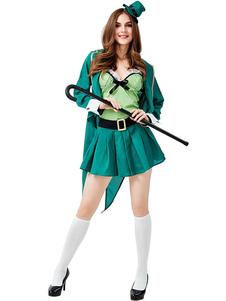 Costume da festa irlandese St.Patrick \ 's Day Donna Cappello Texudo verde Cappello Costumi da San Patrizio