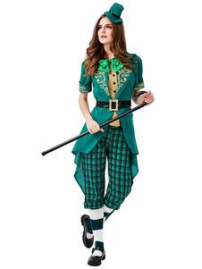 Costumi di festa irlandesi Festa di San Patrizio Donna Cintura di Texudo verde Cravatta Costumi di San Patrizio