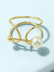 指の宝石類金髪亜鉛合金女性の宝石類