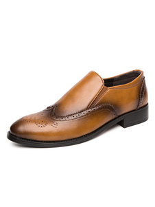 Мужская бездельниковая популярная кожаная обувь из искусственной кожи