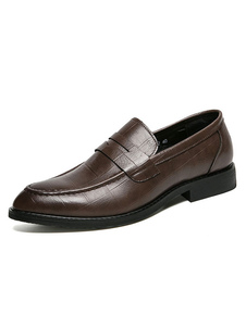 Sapatos Masculinos Comfy PU Leather Slip-On Lofers