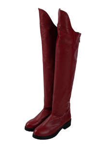 Carnaval Supergirl Season 5 Cosplay Boots Supergirl Red Faux Leather DC Comics Cosplay Zapatos