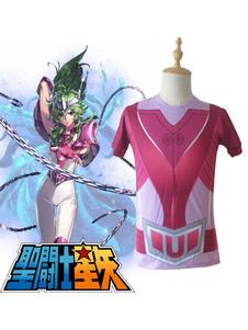 Costume Carnevale Costume cosplay anime di Saint Seiya Bronze Saint Shun New Andromeda Cloth Summer T Shirt